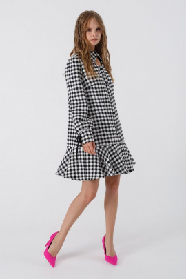 Платье PiRS 3382 черно-белый