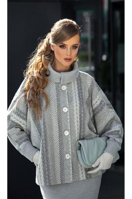 Полупальто Diva 1348 серый