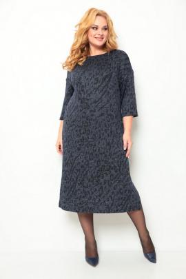 Платье Michel chic 2069 синий-принт