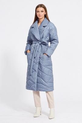 Пальто EOLA 2077 серо-голубой