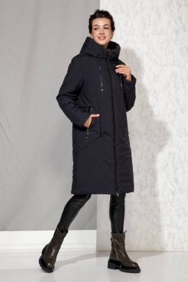 Пальто Beautiful&Free 4061 темно-синий