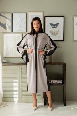 Платье LadisLine 1390 серый-черный
