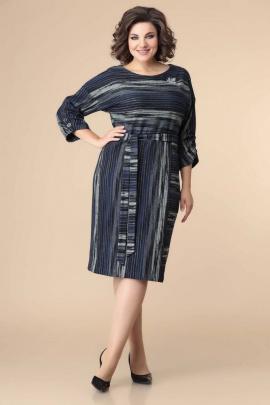 Платье Romanovich Style 1-2218 синий/полоска