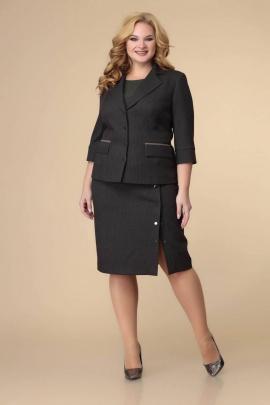 Блуза, Юбка, Жакет Romanovich Style 3-2220 черный/зелень