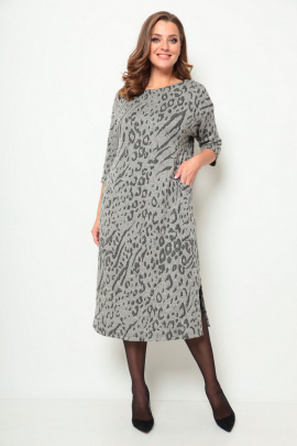 Платье Michel chic 2069 серый-принт