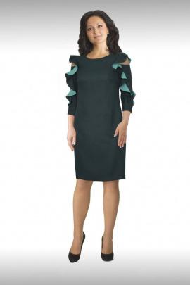 Платье Effect-Style 638 изумрудный