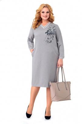 Платье Мишель стиль 996 серо-бежевый