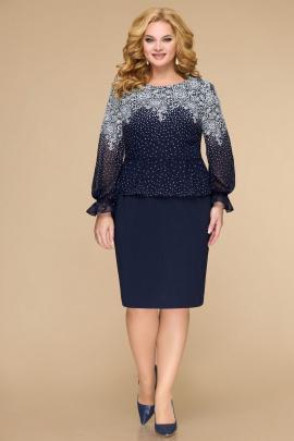 Платье Svetlana-Style 1818 синий+узор