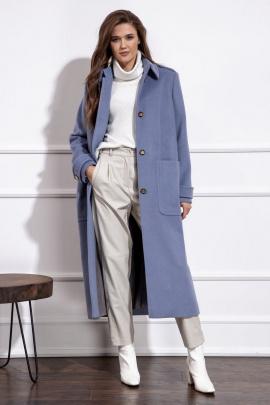 Пальто Nova Line 10219 серо-голубой