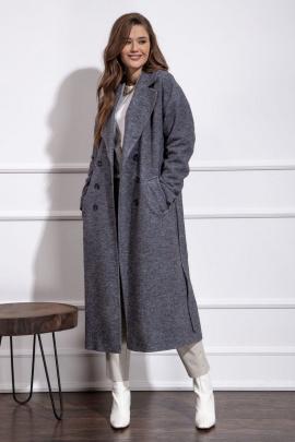 Пальто Nova Line 10273 серый