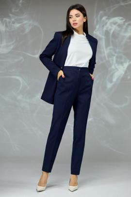 Женский костюм Angelina & Сompany 596 темно-синий_мелкая_ячейка
