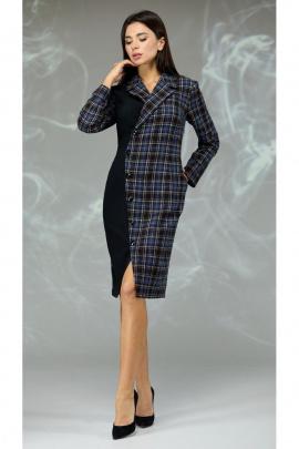 Платье Angelina & Сompany 599 синяя_клетка