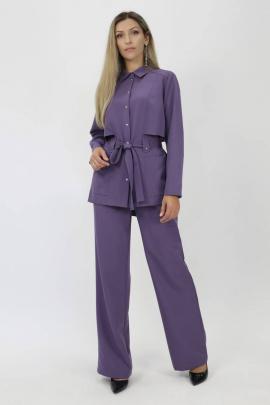 Брюки, Жакет Effect-Style 823 темно-лиловый