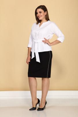 Блуза, Юбка Klever 277+3016 черный+белый