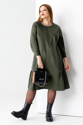 Платье Панда 57280z хаки