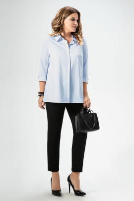 Блуза Панда 457340 светло-голубой