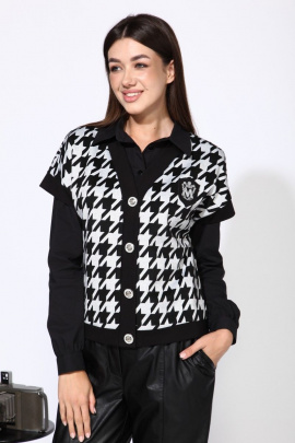 Жилет Karina deLux М-9936Ж черно-серый