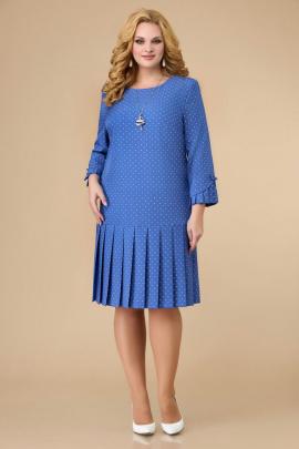 Платье Svetlana-Style 1429 голубой+горох