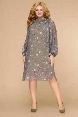 Платье Svetlana-Style 1706 оливковый+цветы