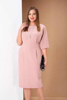 Платье Andrea Style 0383 розовый