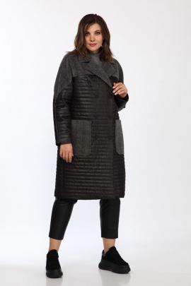 Пальто Lady Style Classic 2327 черно-серый