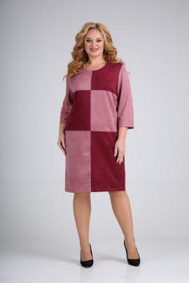 Платье Mamma Moda М-689/1 розовый-красный
