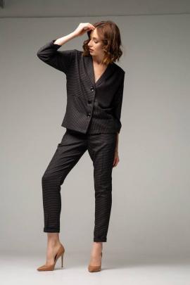 Женский костюм Ivera 6004 серый, коричневый
