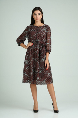 Платье Moda Versal П2318 коричневый