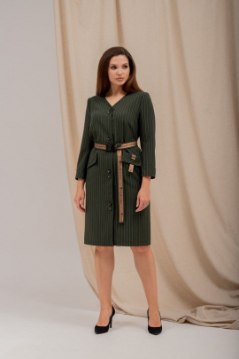 Платье Angelina 5561 хаки