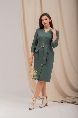Платье Angelina 679 изумруд