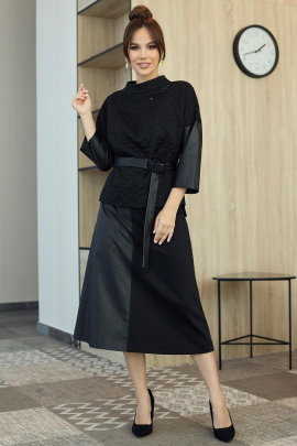 Блуза, Юбка, Топ Мода Юрс 2709 черный