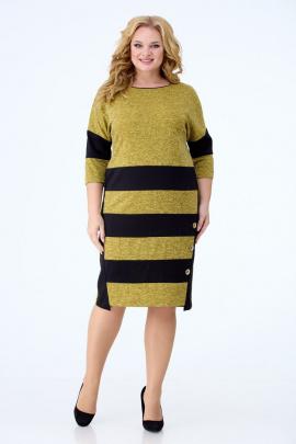 Платье Anelli 945 горчично-черный