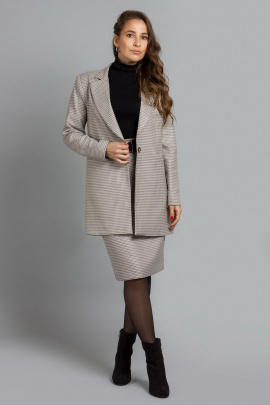 Женский костюм Mirolia 959 бежевая-гусиная_лапка