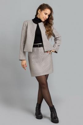 Женский костюм Mirolia 961 бежевая-гусиная_лапка