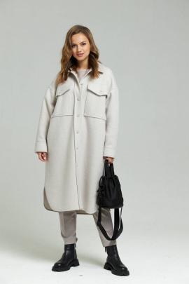 Пальто SandyNa 130601 серо-жемчужный