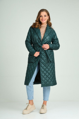 Пальто Modema м.1023/1 изумрудный