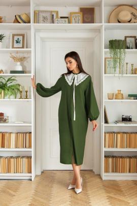 Платье LadisLine 1404 хаки