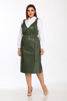 Блуза, Сарафан Lady Style Classic 2308 белый-зеленый