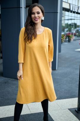 Платье Anastasia 495 горчица