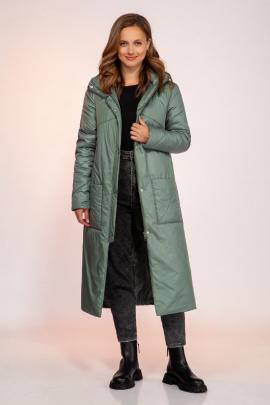 Пальто Dilana VIP 1750 светлая_бирюза
