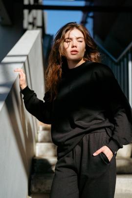 Свитшот Rawwwr clothing 297-начес черный