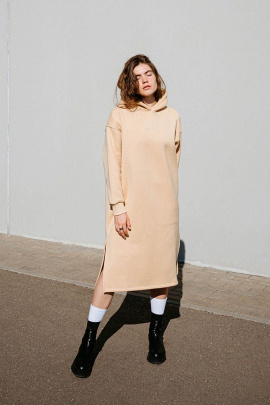 Платье Rawwwr clothing 303 бежевый