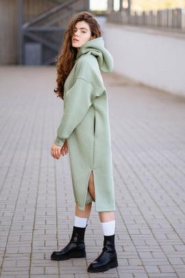 Платье Rawwwr clothing 303-начес оливковый