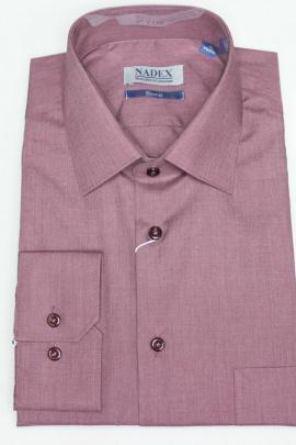 Рубашка Nadex 01-047312/204_182 меланжевое_вино