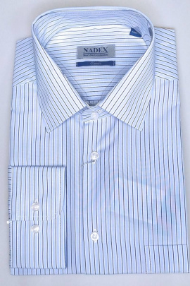 Рубашка Nadex 01-070913/303_182 бело-голубой
