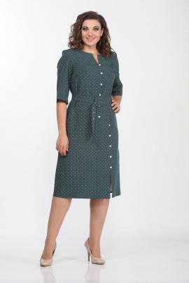 Платье Lady Style Classic 2119/7 бирюза-горох
