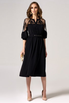 Платье Панда 27080z черный