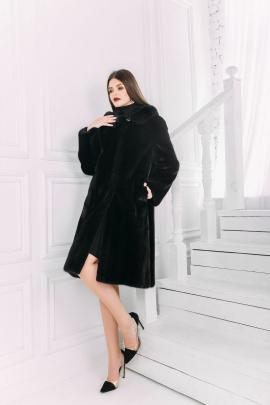 Пальто Мехофф Ромашка110.123-520 черный