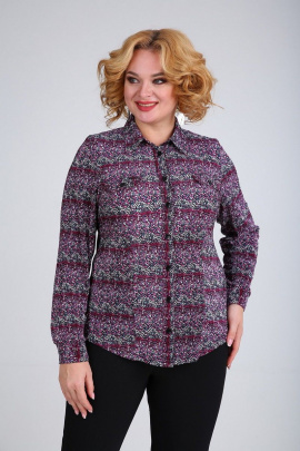 Блуза SOVITA M-663 красно-розовый