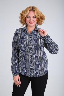 Блуза SOVITA M-663 сине-голубой